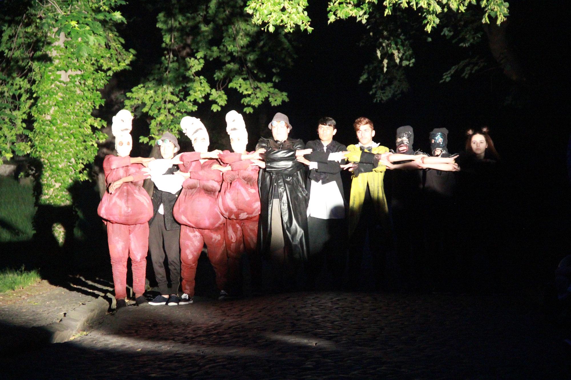 VIATHEA 2016, POWER OF DIVERSITY, Aktionstheater PAN.OPTIKUM, Luka Fritsch, Sigrun Fritsch, Anna Hoffmann, Christiane Hoffmann, Nicolaikirche, Goerlitz